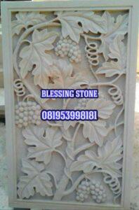 Relief batu paras batu ukir relief-motif-pohon-anggur-